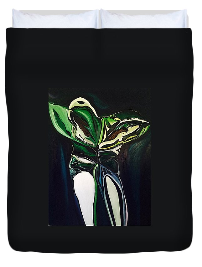 Transparency Duvet Cover featuring the painting Seeing Through by Ruby Vartan