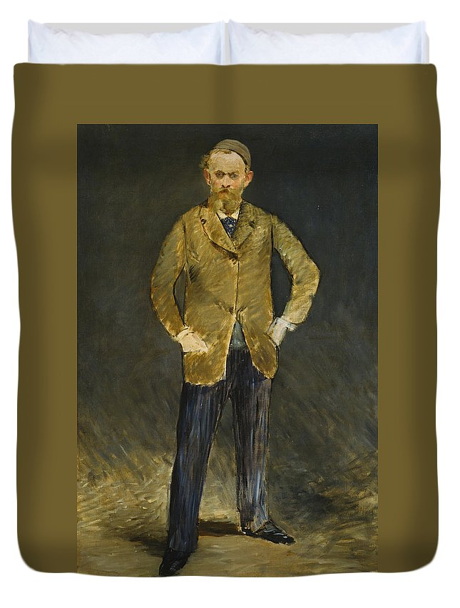French Painters Duvet Cover featuring the painting Self-portrait by Edouard Manet