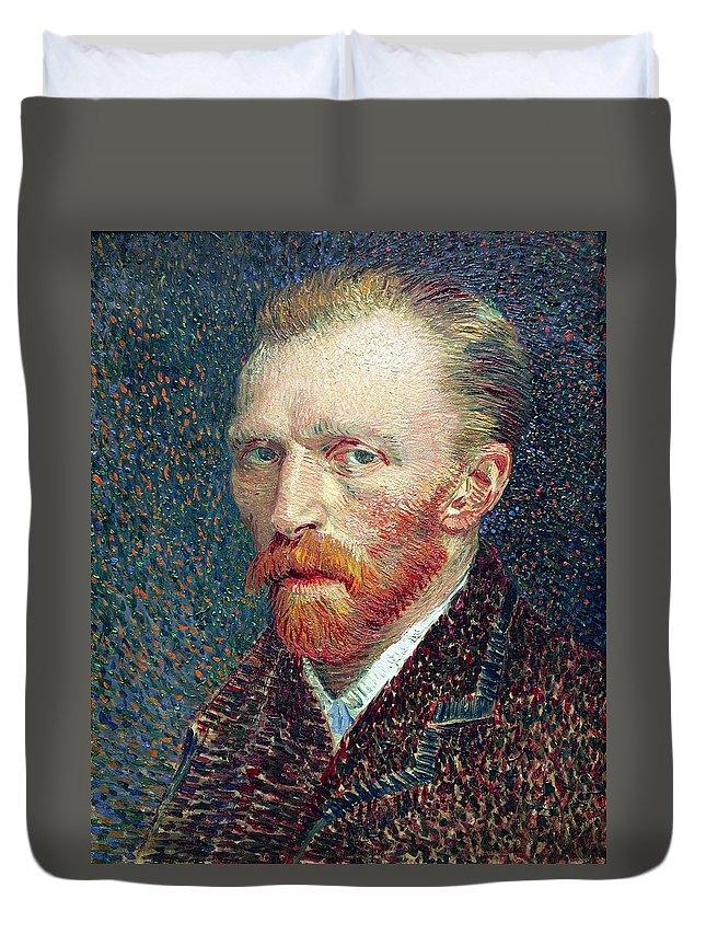 van Gogh Duvet Cover featuring the photograph Self Portrait Vincent Van Gogh by Daniel Hagerman