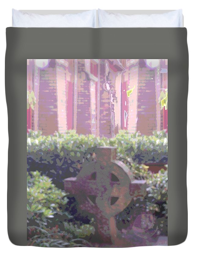 Church Duvet Cover featuring the photograph Seminal Moment by Tim Allen