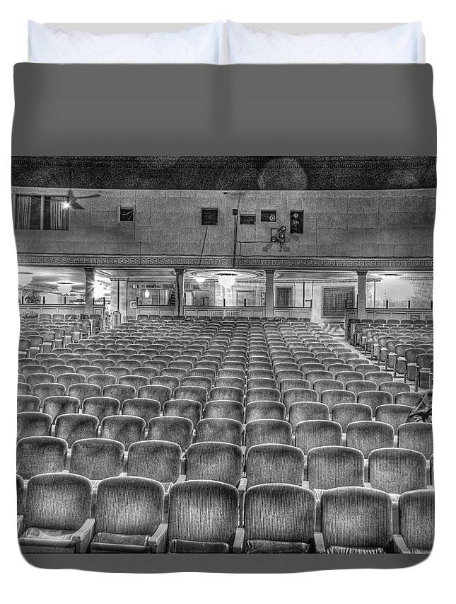 Duvet Cover featuring the photograph Senate Theatre Seating Detroit MI by Nicholas Grunas