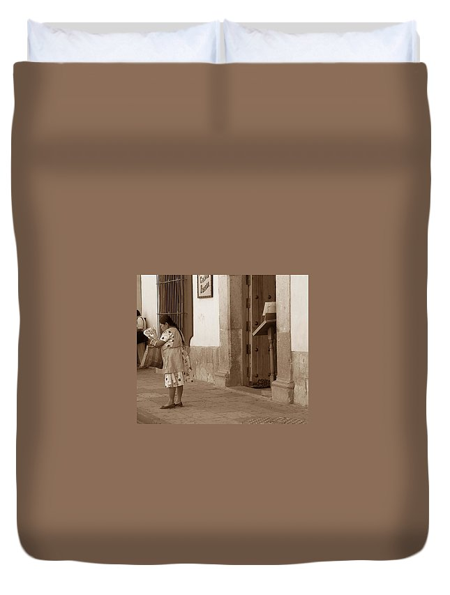 Charity Duvet Cover featuring the photograph Senora by Mary-Lee Sanders