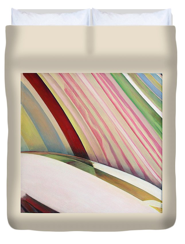 Abstract Duvet Cover featuring the painting Sens 1 by Muriel Dolemieux