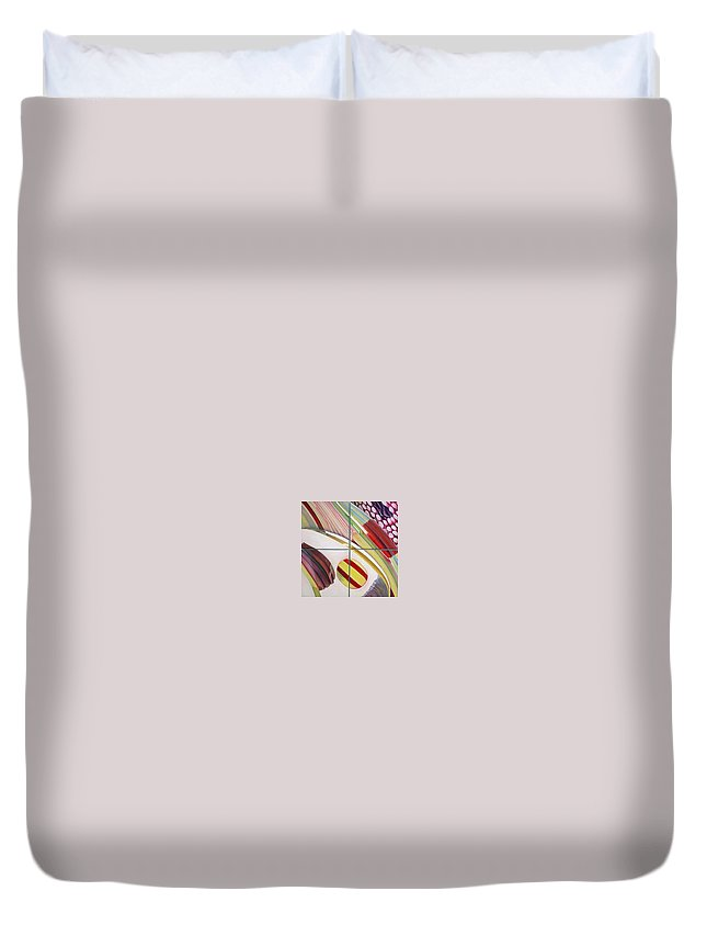 Abstract Duvet Cover featuring the painting Sens by Muriel Dolemieux