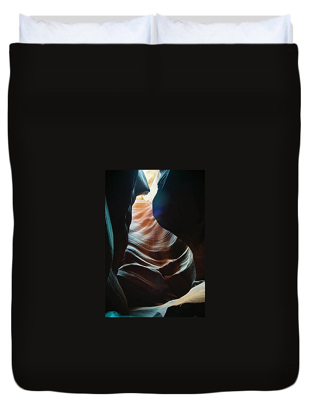Landscape Duvet Cover featuring the photograph Sensual Curves by Cathy Franklin