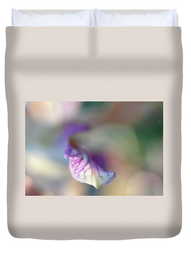 Jenny Rainbow Fine Art Photography Duvet Cover featuring the photograph Sensual Touch Of Exotic. Orchid I by Jenny Rainbow