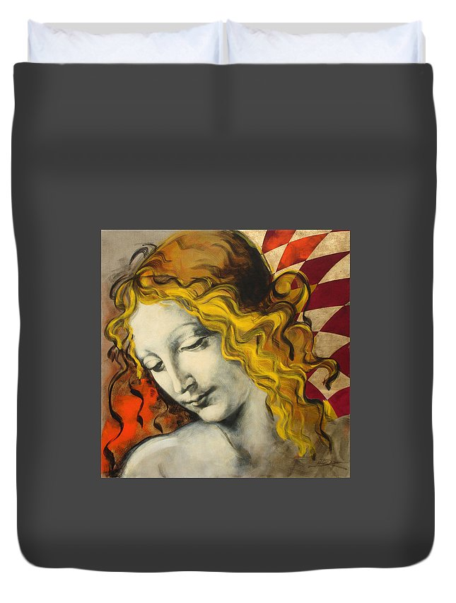 Classical Duvet Cover featuring the painting Sensuali by Jean Pierre Rousselet