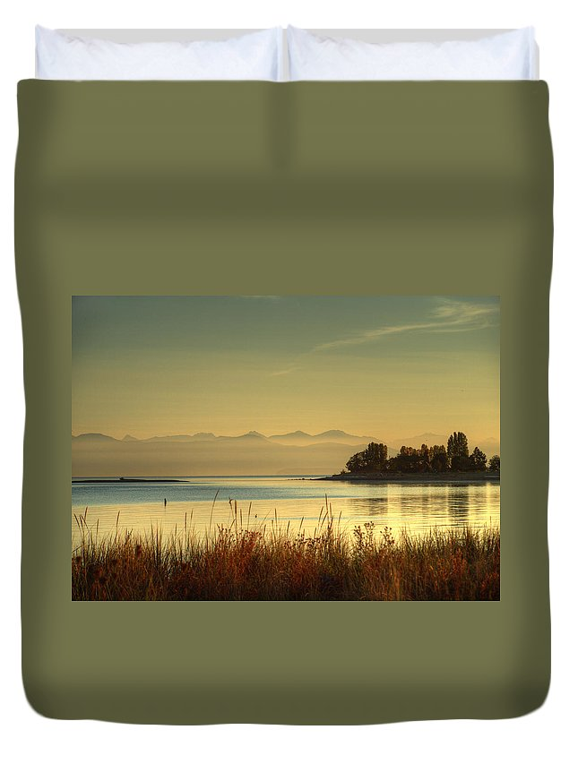 Landscape Duvet Cover featuring the photograph September Morn by Randy Hall