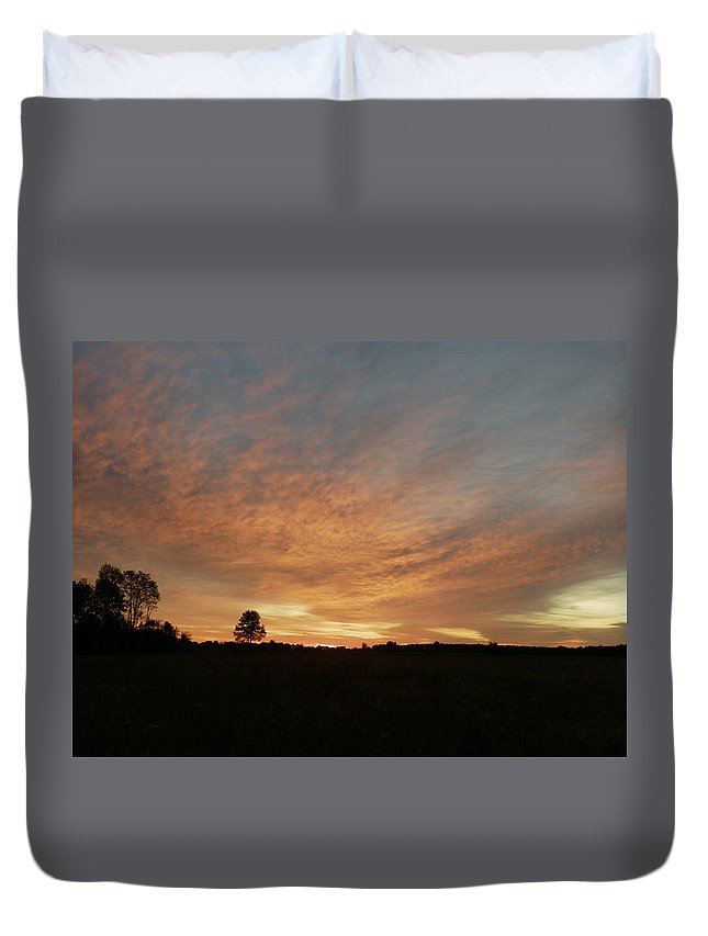 Sunrise Duvet Cover featuring the photograph September Morning by Peggy King