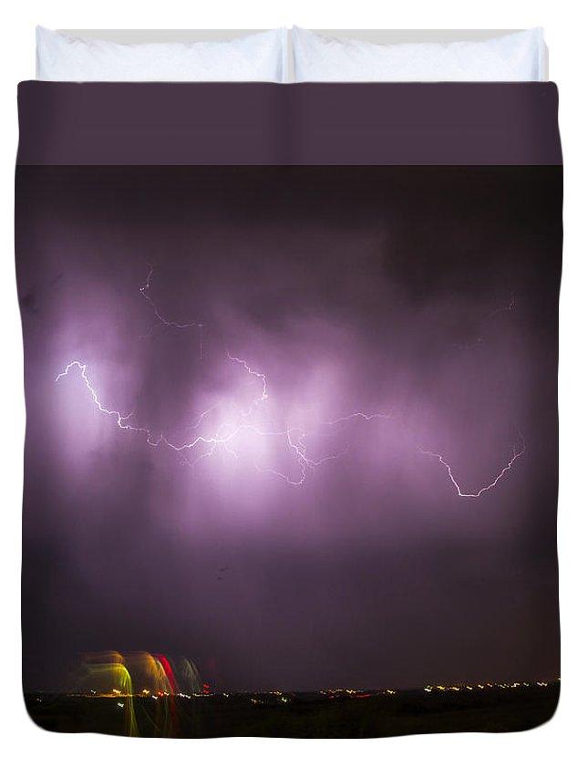 Nebraskasc Duvet Cover featuring the photograph September Nebraska Storm Cells 022 by NebraskaSC