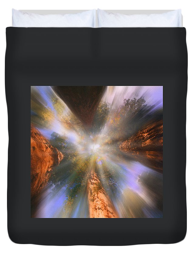 Sequoia Duvet Cover featuring the painting Sequoia by Robby Donaghey