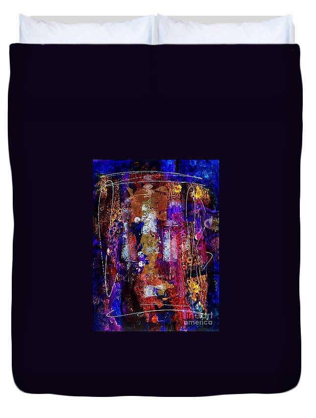 Abstract Expressionism Duvet Cover featuring the painting Serendipity 003 by Donna Frost