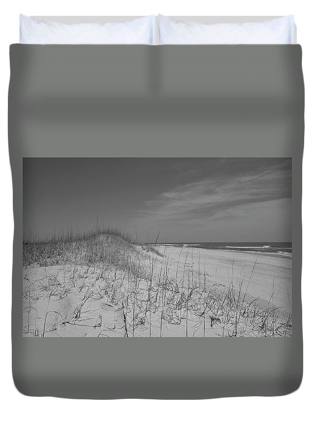 Beach Duvet Cover featuring the photograph Serene Lookout by Betsy Knapp