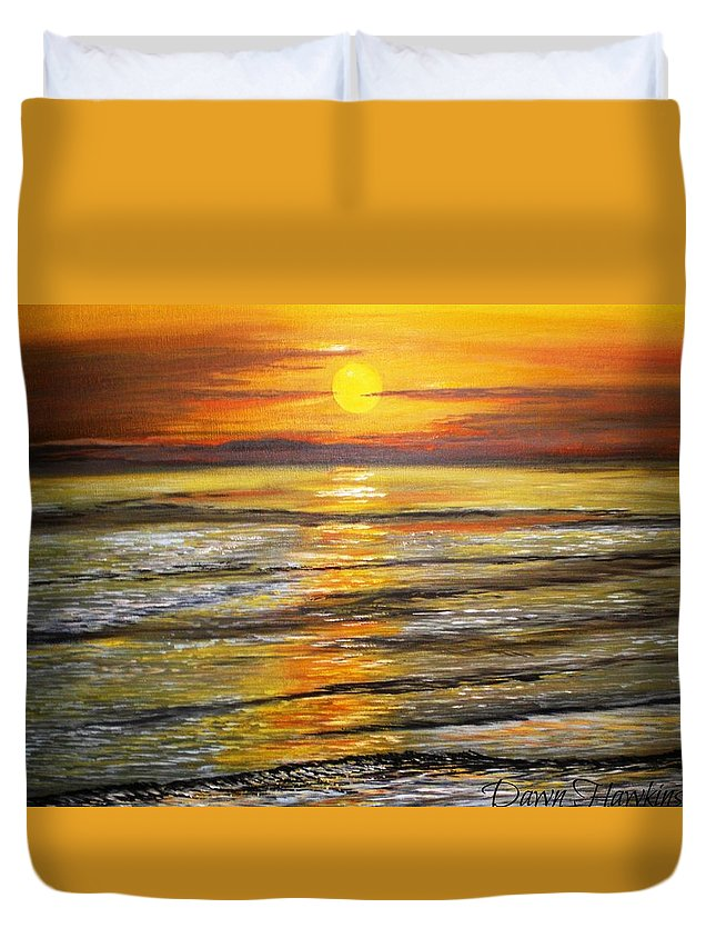 Serenity Duvet Cover featuring the painting Serenity by Dawn Hawkins