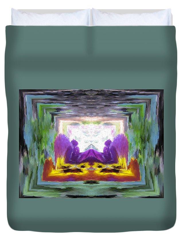 Serenity Duvet Cover featuring the digital art Serenity Gateway by Tim Allen