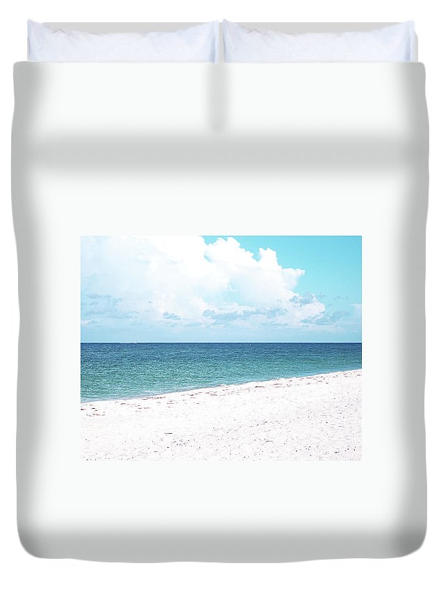 Florida Duvet Cover featuring the photograph Serenity GP by Chris Andruskiewicz
