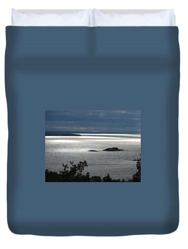 Lake Duvet Cover featuring the photograph Serenity by Kelly Mezzapelle