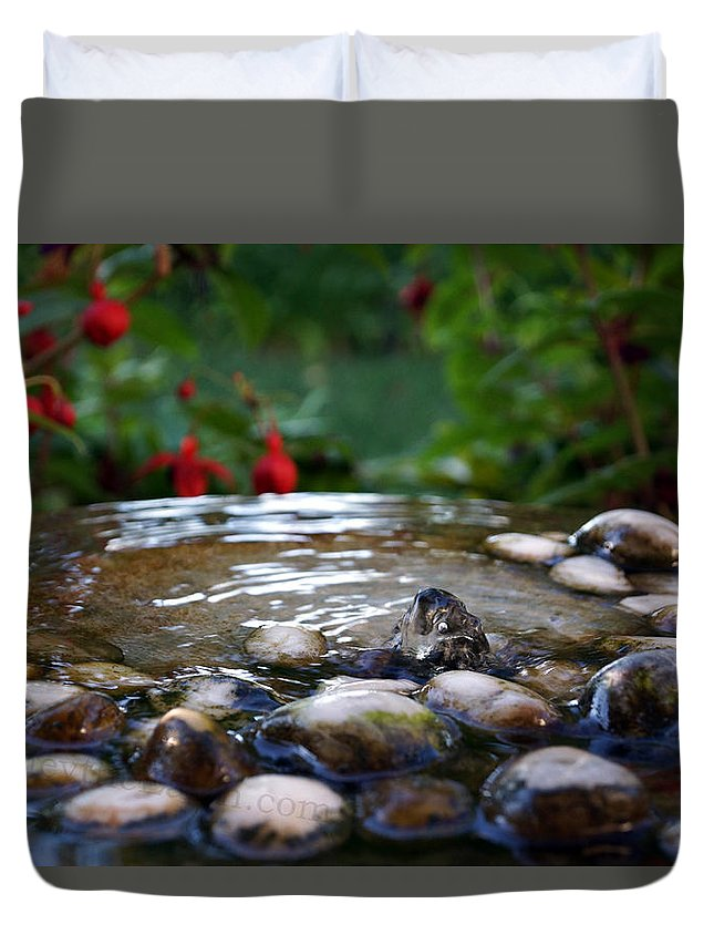 Duvet Cover featuring the photograph Serenity by Todd Hummel