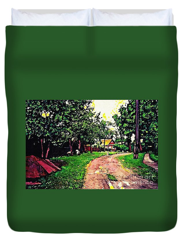 Road Duvet Cover featuring the photograph Sergiyev Posad by Sarah Loft