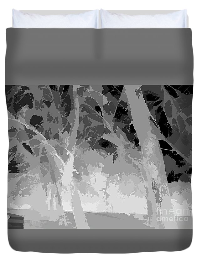 Art Duvet Cover featuring the photograph Series Of Black And White 46 by Funmi Adeshina