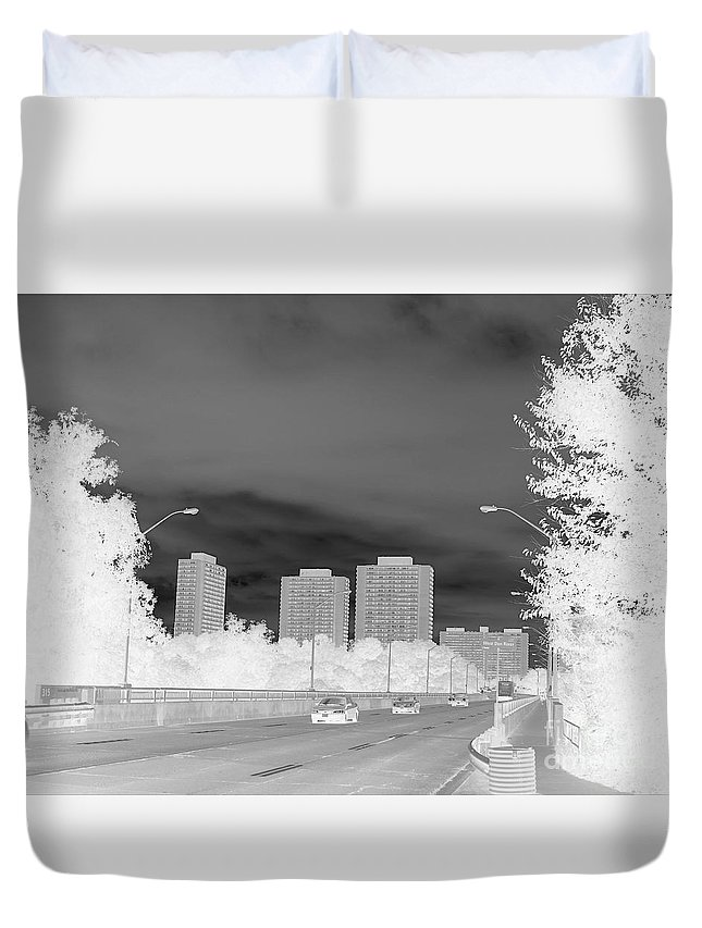 Art Duvet Cover featuring the photograph Series Of Black And White 48 by Funmi Adeshina