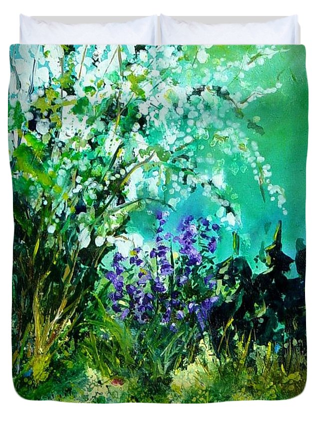 Tree Duvet Cover featuring the painting Seringa by Pol Ledent