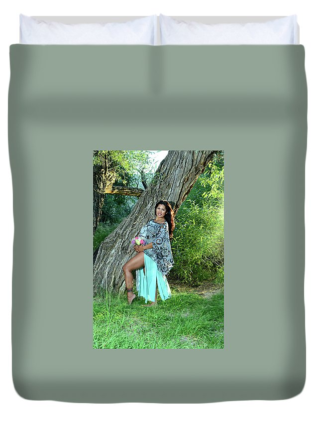 Duvet Cover featuring the photograph Seriously Sweet by Vivian Sampson