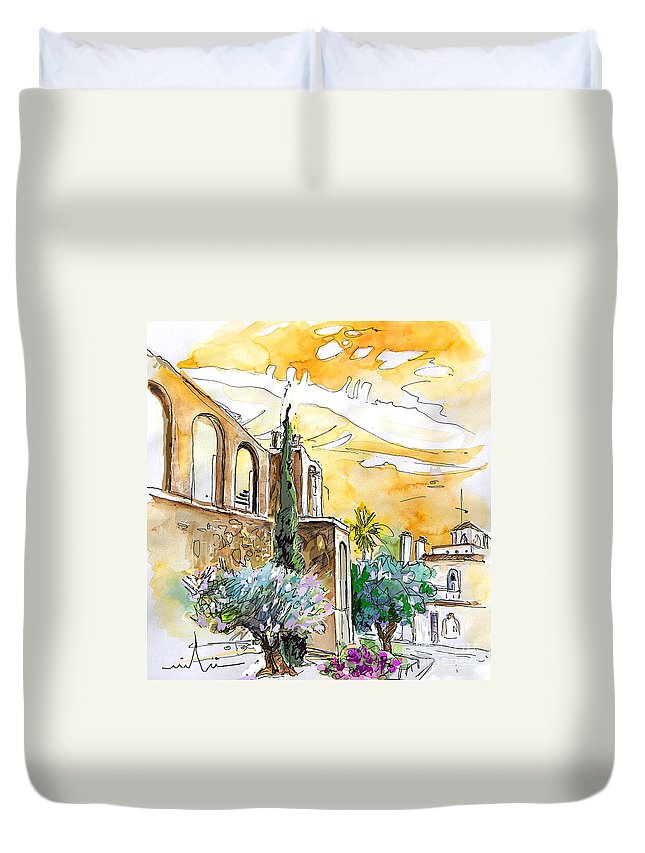 Portugal Paintings Duvet Cover featuring the painting Serpa Portugal 10 by Miki De Goodaboom
