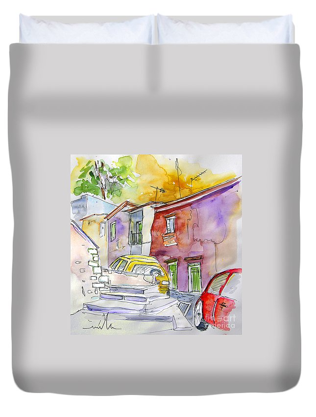 Portugal Paintings Duvet Cover featuring the painting Serpa Portugal 12 by Miki De Goodaboom
