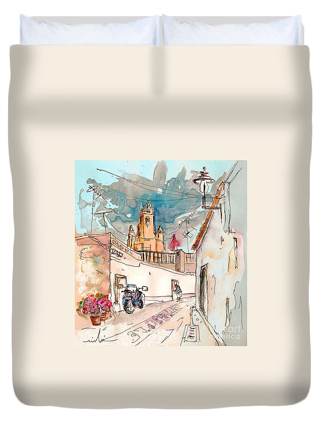 Portugal Paintings Duvet Cover featuring the painting Serpa Portugal 22 by Miki De Goodaboom