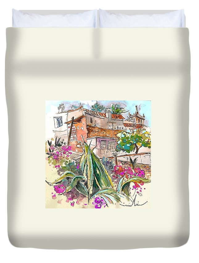Portugal Paintings Duvet Cover featuring the painting Serpa Portugal 24 by Miki De Goodaboom
