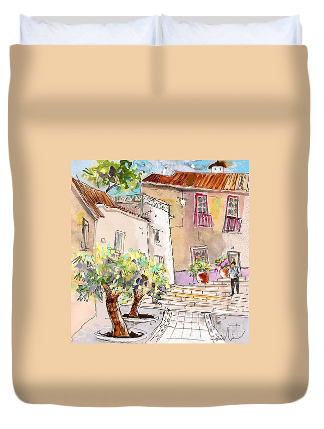 Portugal Paintings Duvet Cover featuring the painting Serpa Portugal 36 by Miki De Goodaboom