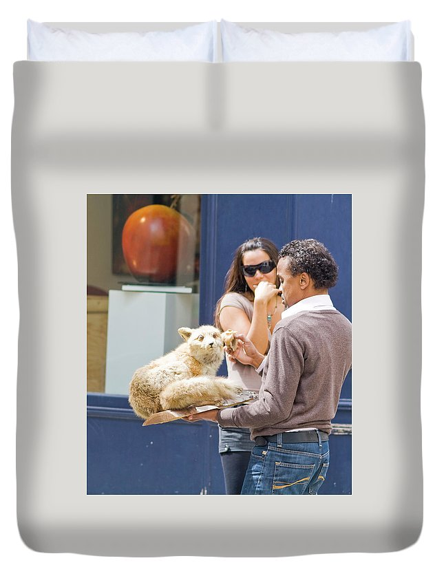Taxidermy Duvet Cover featuring the photograph Set Dressing by Sam Gish