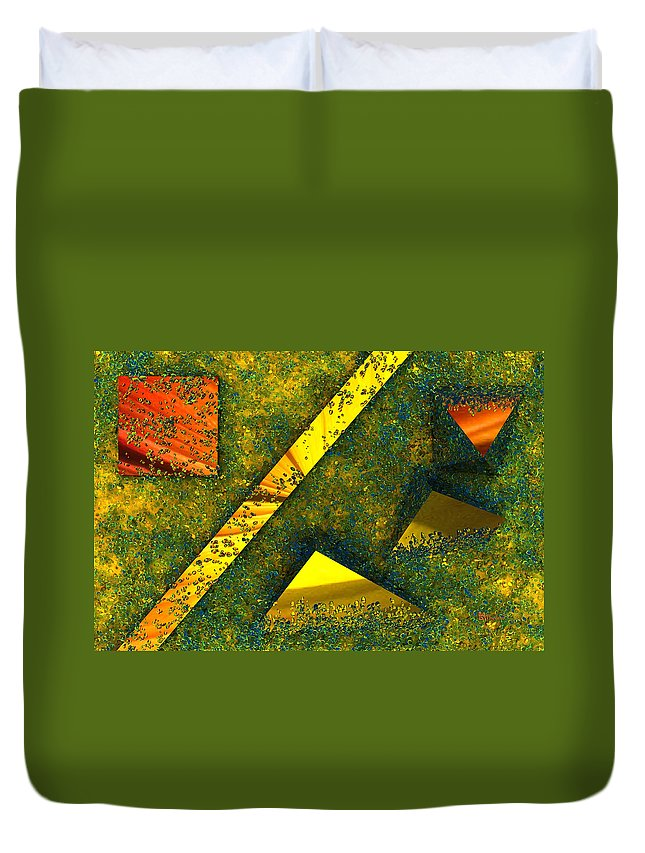 Background Duvet Cover featuring the digital art Setissimo 1 by Max Steinwald