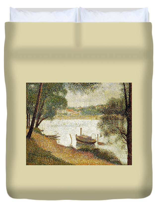 19th Century Duvet Cover featuring the photograph Seurat: Gray Weather by Granger