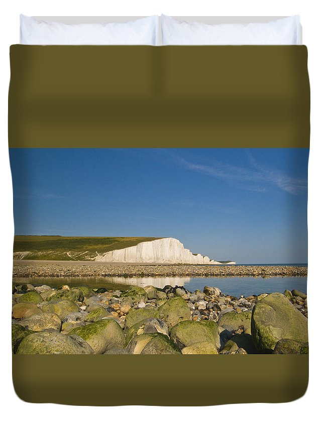 Sussex Duvet Cover featuring the photograph Seven Sisters Sussex by Chris Pickett