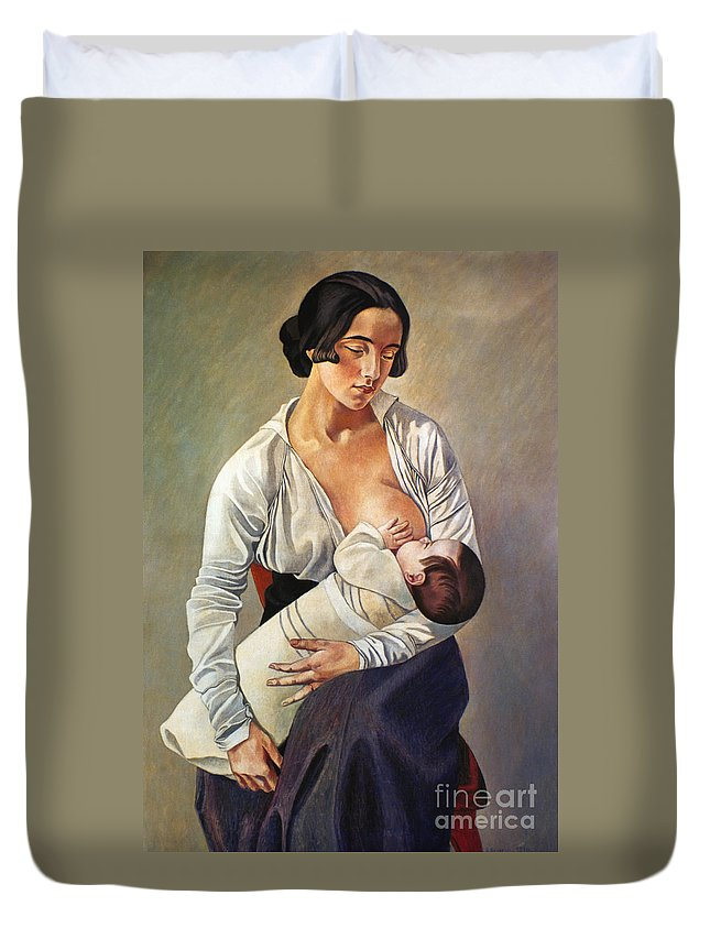 1916 Duvet Cover featuring the photograph Severini: Maternity, 1916 by Granger