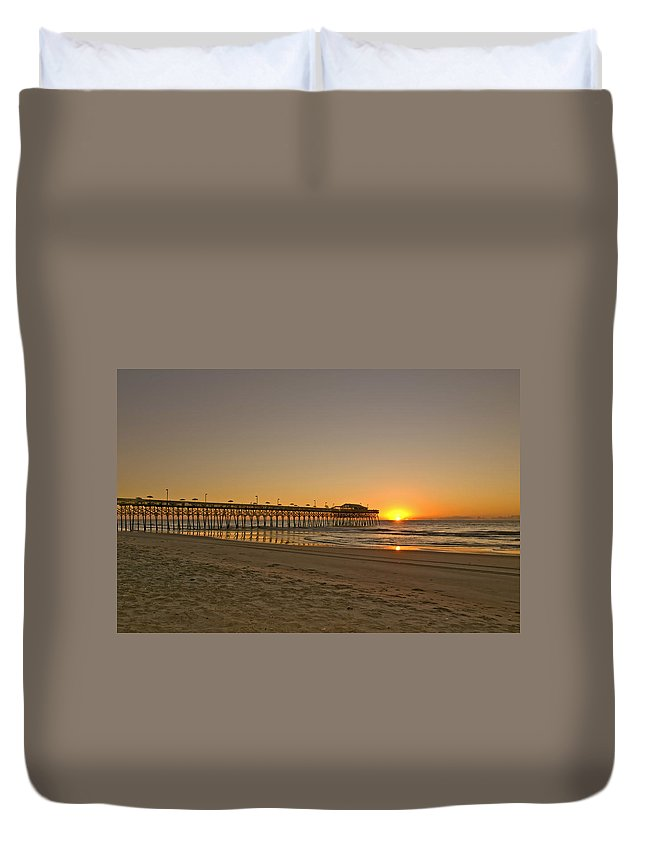 Beach Duvet Cover featuring the photograph Sh213266 Garden City Sunrise by Stephen Ham