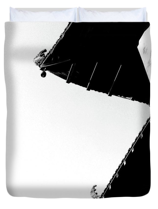 Architecture Duvet Cover featuring the photograph Shaded Sunlight by Fei A