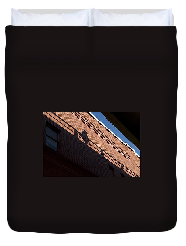 Shadow Duvet Cover featuring the photograph Shadow Skate by Sara Stevenson