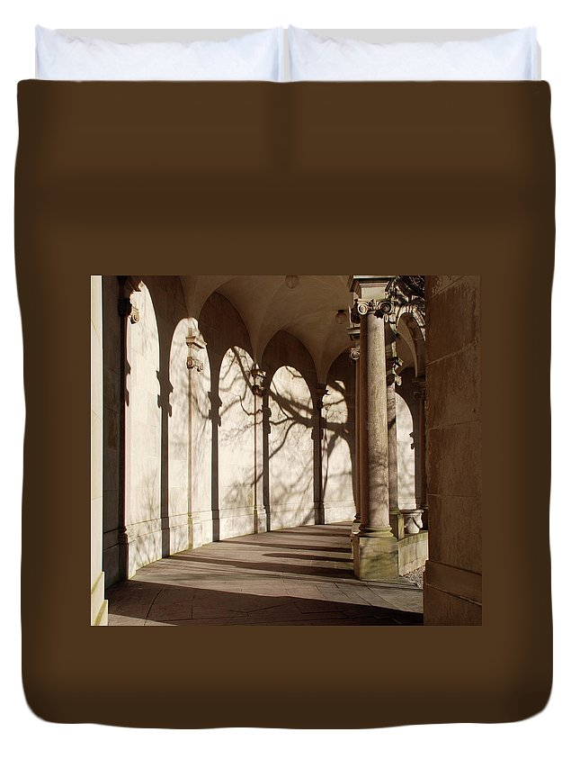 Monmouth University Duvet Cover featuring the photograph Shadows And Curves by Richard Bryce and Family