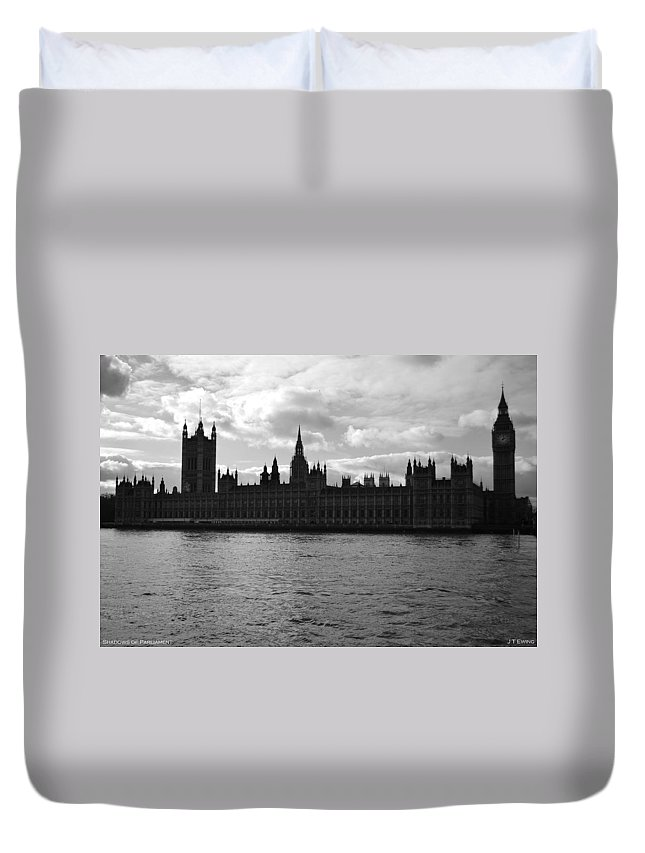 London Duvet Cover featuring the photograph Shadows Of Parliament by J Todd
