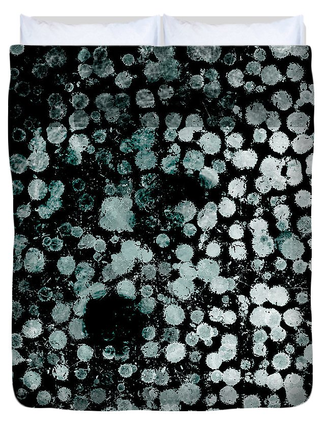 Graphic Duvet Cover featuring the mixed media Shape And Color 9 by Len YewHeng