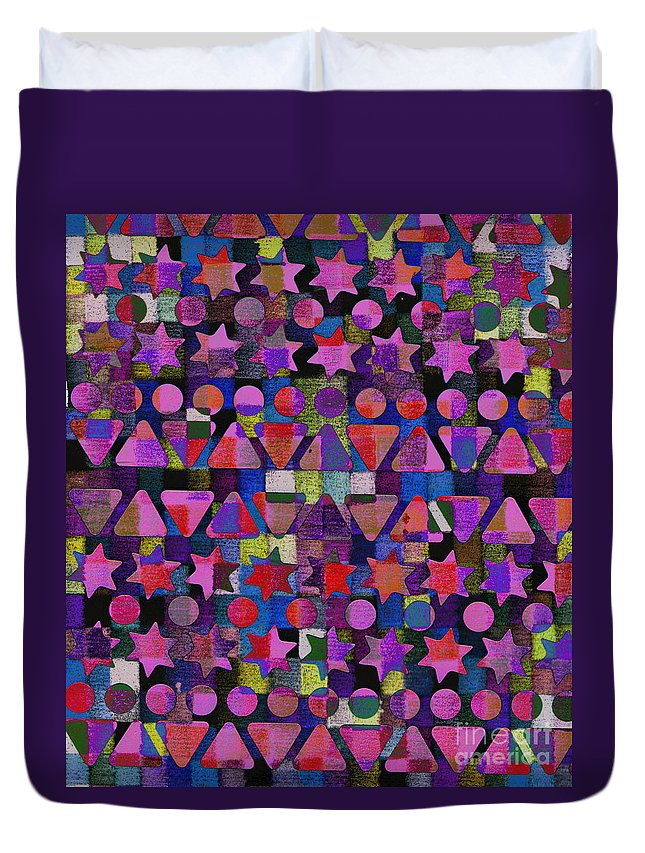 Fall Duvet Cover featuring the digital art Shapes 2 by Andy Mercer