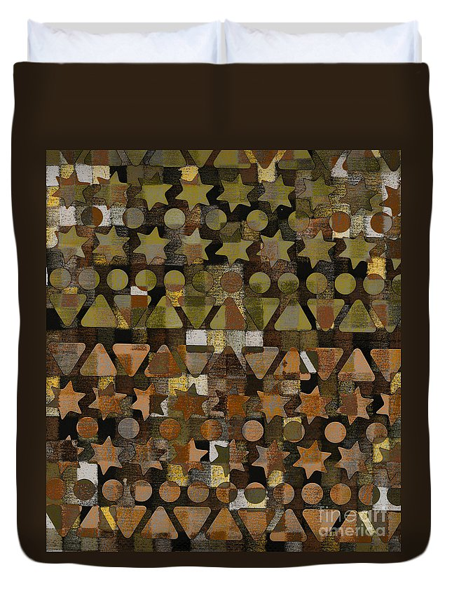 Fall Duvet Cover featuring the digital art Shapes by Andy Mercer
