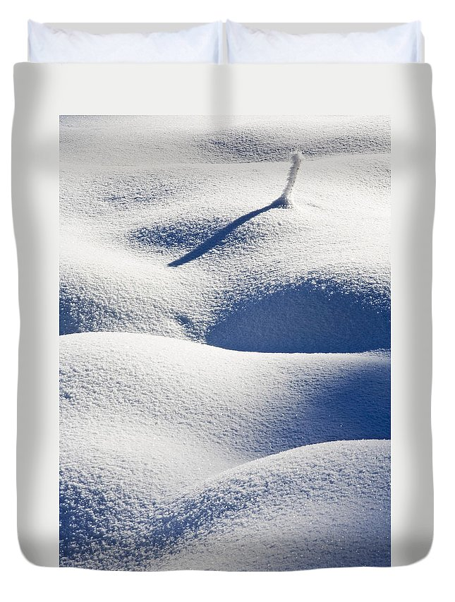 Snow Duvet Cover featuring the photograph Shapes Of Winter by Mike Dawson