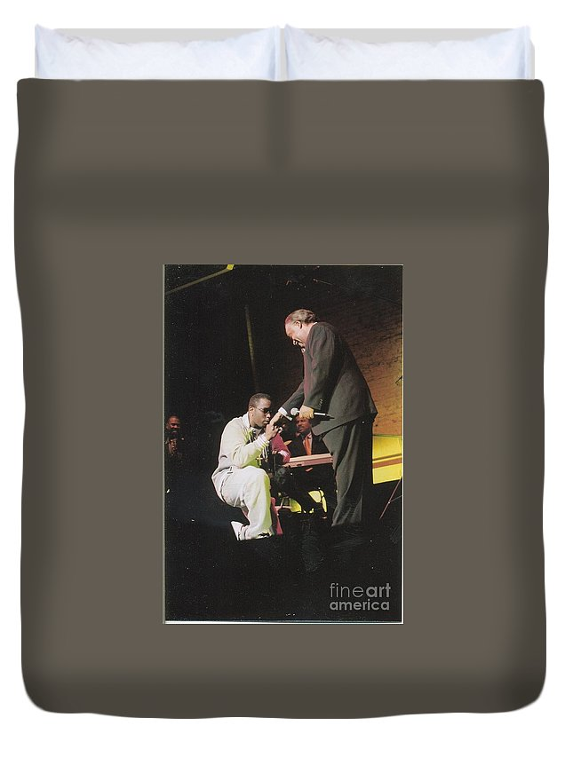 Apollo Theater Duvet Cover featuring the photograph Sharpton 50th Birthday by Azim Thomas