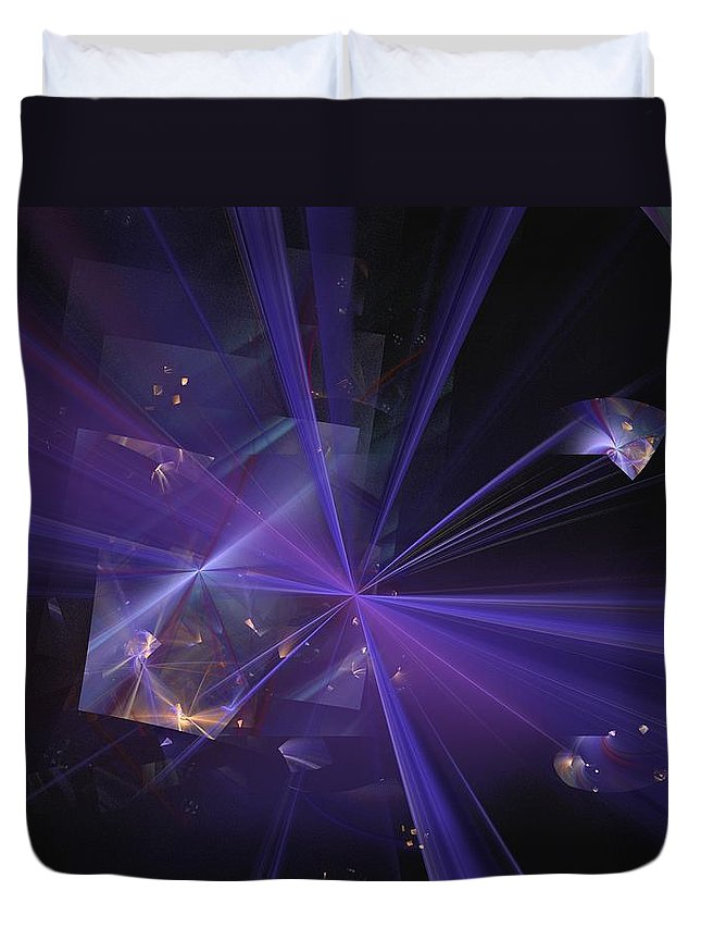 Abstract Digital Painting Duvet Cover featuring the digital art Shattered by David Lane