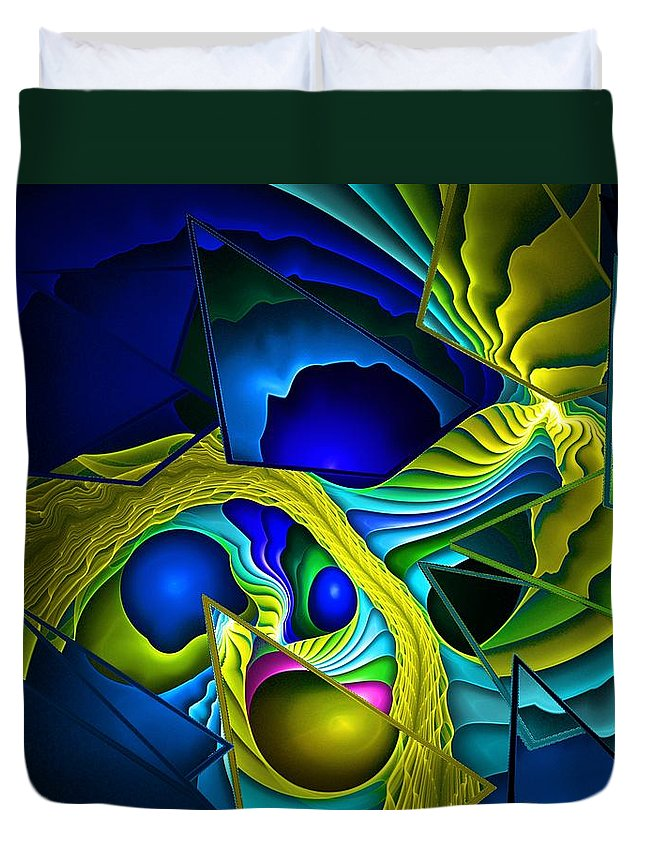 Fantasy Duvet Cover featuring the digital art Shattered Visions. by David Lane