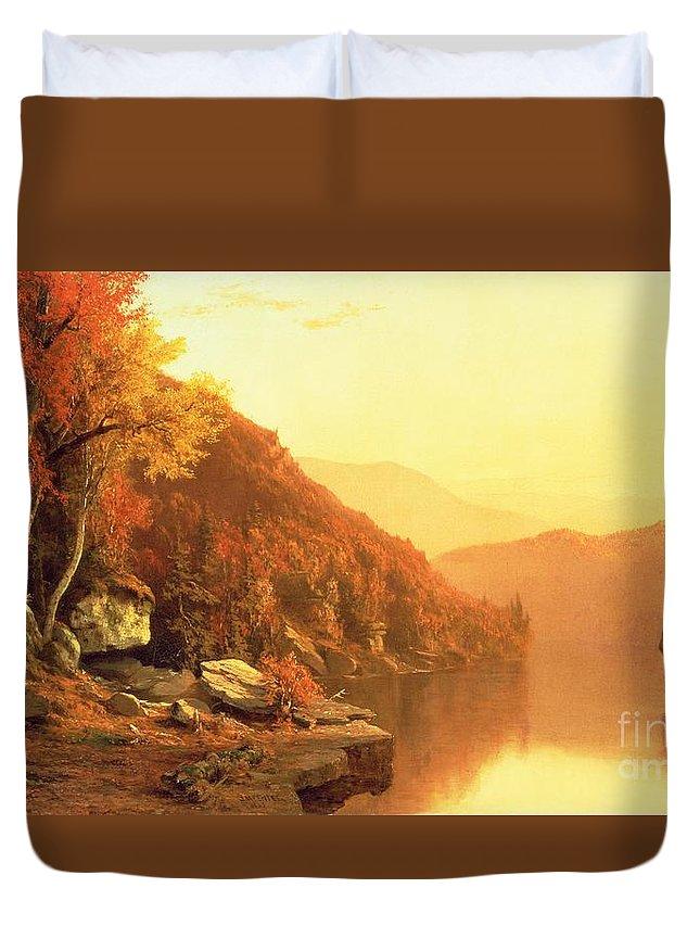 Shawanagunk Mountains Duvet Cover featuring the painting Shawanagunk Mountains by Jervis McEntee